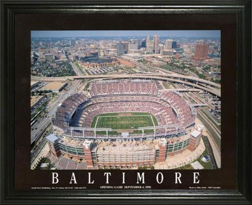 NFL - Baltimore Ravens - MT Bank aka PSINet Stadium - Lg - Framed Picture