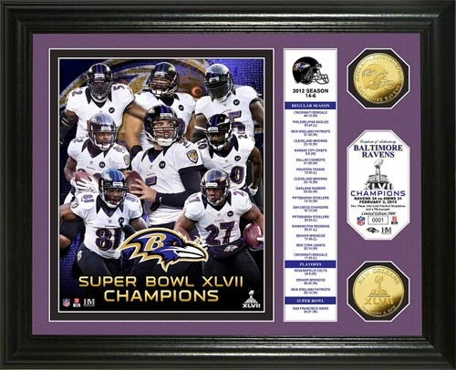 NFL - Baltimore Ravens - Super Bowl 47 XLVII - Players - Stats - Framed Picture