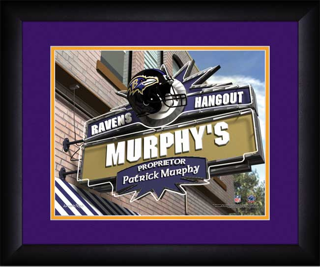 NFL - Baltimore Ravens - Personalized Hangout Sign - Framed Picture