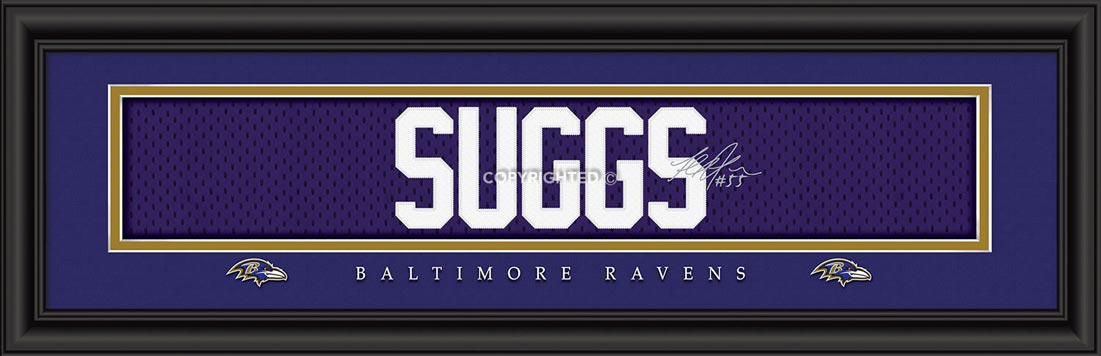 NFL - Baltimore Ravens - Signature Jersey Nameplate - Terrell Suggs - Framed Picture
