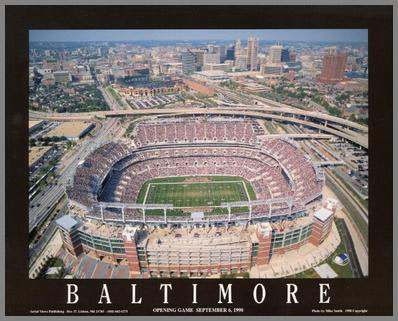 NFL - Baltimore Ravens - MT Bank aka PSINet Stadium - Med - Plaque Mounted & Laminated Print