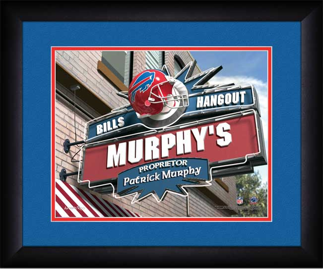 NFL - Buffalo Bills - Personalized Hangout Sign - Framed Picture
