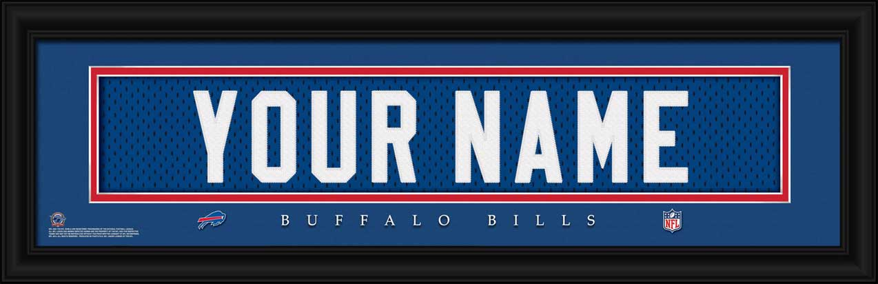 NFL - Buffalo Bills - Personalized Jersey Nameplate - Framed Picture