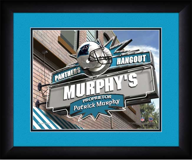 NFL - Carolina Panthers - Personalized Hangout Sign - Framed Picture