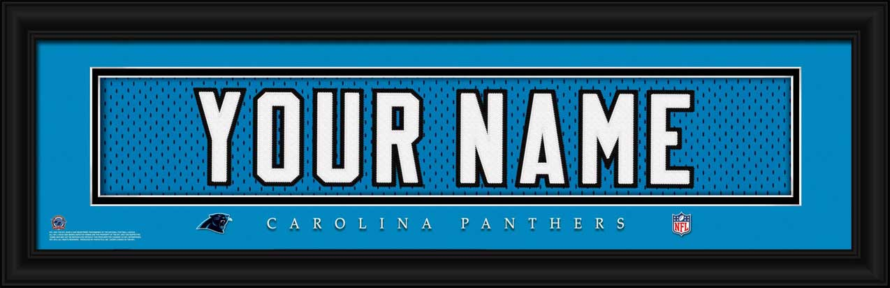 NFL - Carolina Panthers - Personalized Jersey Nameplate - Framed Picture