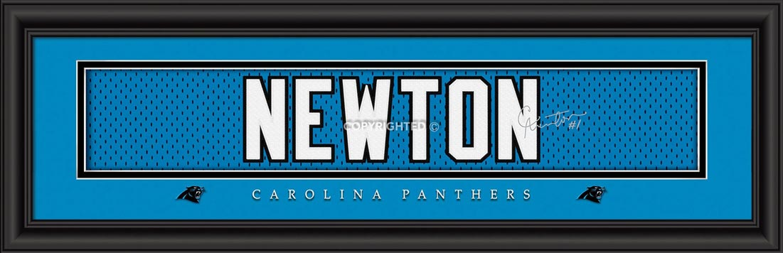 NFL - Carolina Panthers - Signature Jersey Nameplate - Cam Newton - Framed Picture