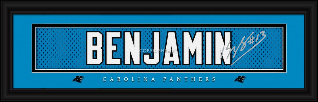 NFL - Carolina Panthers - Signature Jersey Nameplate - Kelvin Benjamin - Framed Picture