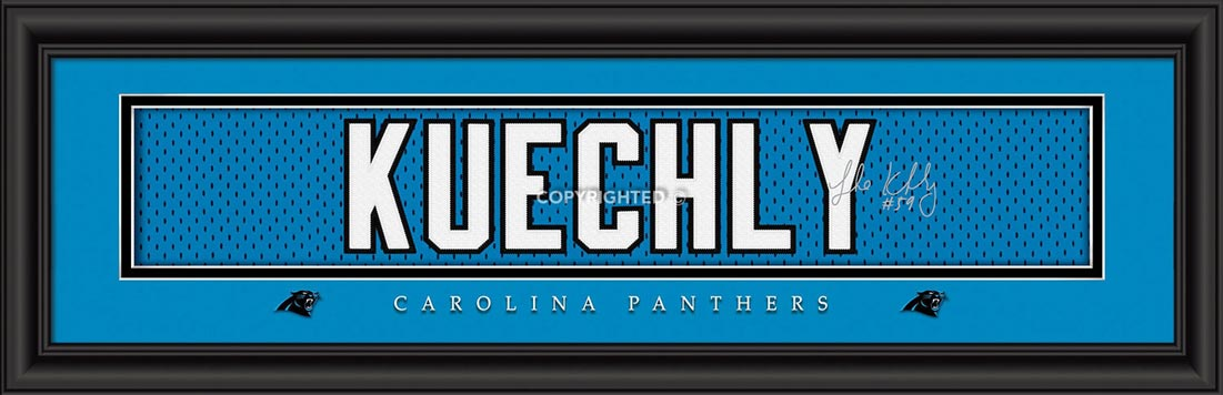 NFL - Carolina Panthers - Signature Jersey Nameplate - Luke Kuechly - Framed Picture