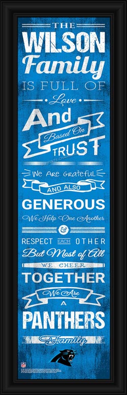 NFL - Carolina Panthers - Personalized Family Cheer - Framed Picture