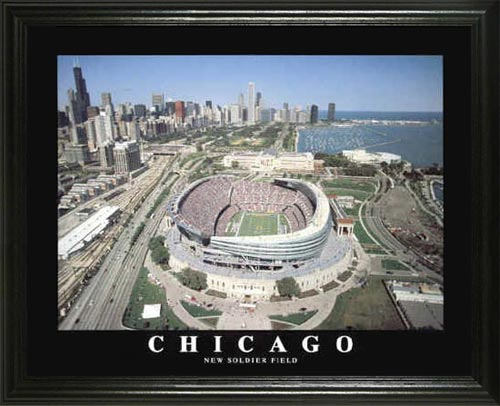 NFL - Chicago Bears - New Soldier Field Aerial - Lg - Framed Picture