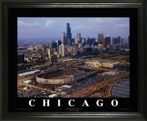 NFL - Chicago Bears - Old Soldier Field Aerial - Lg - Framed Picture