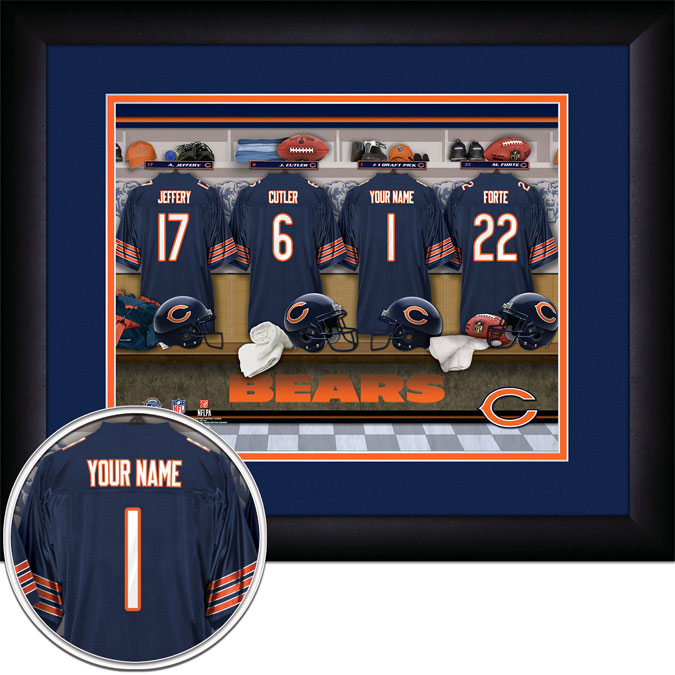 NFL - Chicago Bears - Personalized Locker Room - Framed Picture