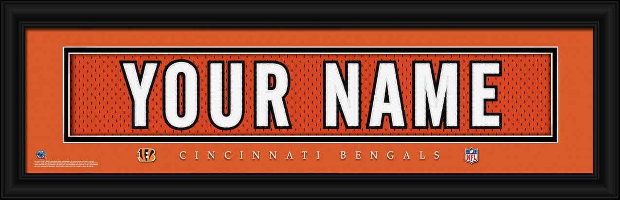 NFL - Cincinnati Bengals - Personalized Jersey Nameplate - Framed Picture