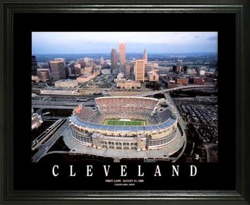 NFL - Cleveland Browns - Browns Stadium Aerial - Lg - Framed Picture