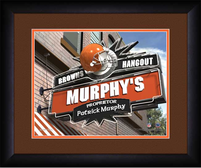 NFL - Cleveland Browns - Personalized Hangout Sign - Framed Picture