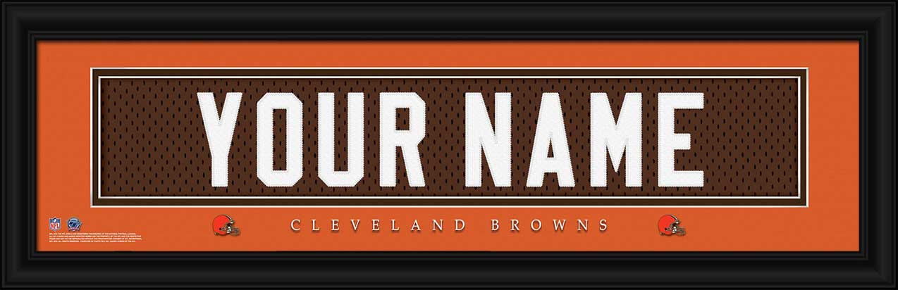NFL - Cleveland Browns - Personalized Jersey Nameplate - Framed Picture