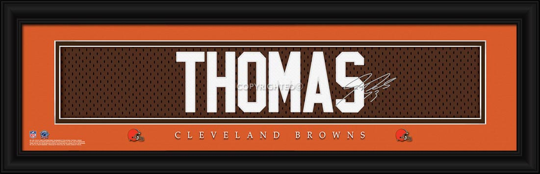 NFL - Cleveland Browns - Signature Jersey Nameplate - Joe Thomas - Framed Picture