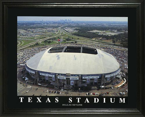 NFL - Dallas Cowboys - Old Texas Stadium Aerial - Lg - Framed Picture