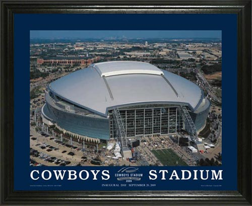 NFL - Dallas Cowboys - New Cowboys Stadium Aerial - Lg - Framed Picture