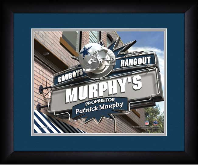 NFL - Dallas Cowboys - Personalized Hangout Sign - Framed Picture