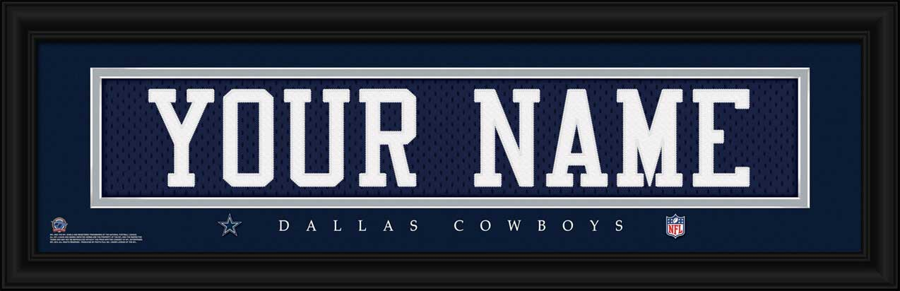 NFL - Dallas Cowboys - Personalized Jersey Nameplate - Framed Picture