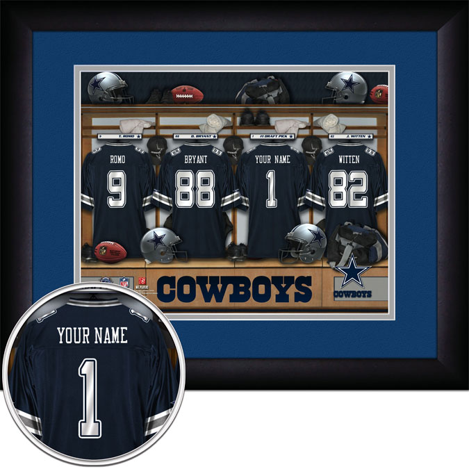 NFL - Dallas Cowboys - Personalized Locker Room - Framed Picture