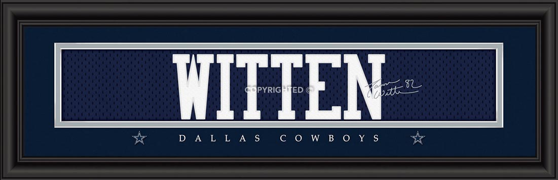 NFL - Dallas Cowboys - Signature Jersey Nameplate - Jason Witten - Framed Picture