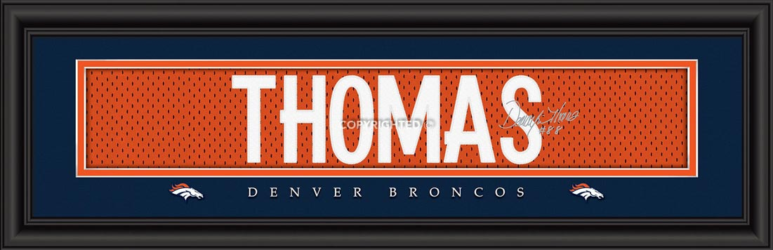 NFL - Denver Broncos - Signature Jersey Nameplate - Demaryius Thomas - Framed Picture
