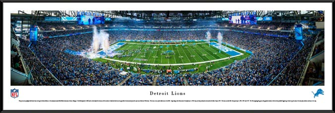 NFL - Detroit Lions - Ford Field - Framed Picture