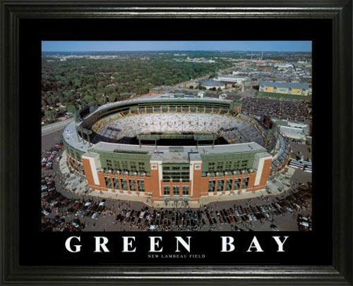 NFL - Green Bay Packers - New Lambeau Field Aerial - Lg - Framed Picture