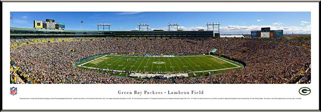 Green Bay Packers Framed Panoramic Poster Print - New Lambeau Field ...