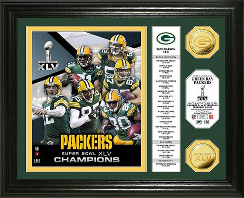 NFL - Green Bay Packers - Super Bowl 45 XLV - Players - Stats - Framed Picture