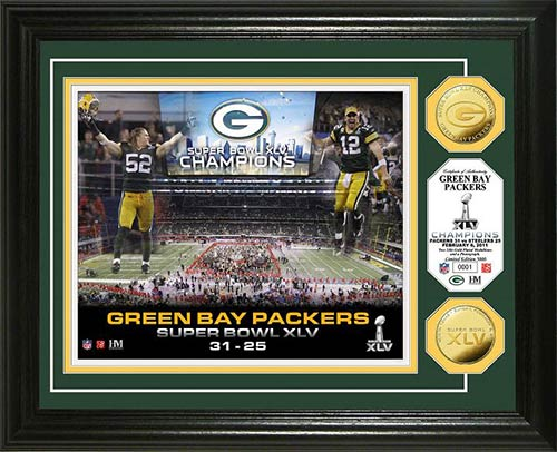 NFL - Green Bay Packers - Super Bowl 45 XLV - Celebration - Framed Picture