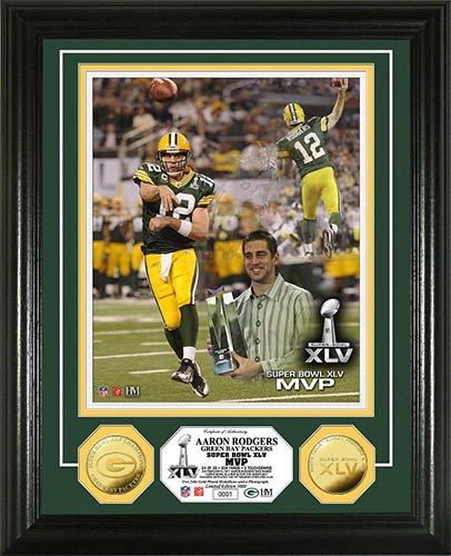 NFL - Green Bay Packers - Super Bowl 45 XLV - MVP Rogers - Framed Picture
