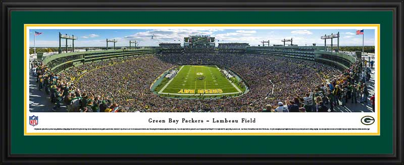NFL - Green Bay Packers - Lambeau Field - End Zone 2013 - Framed Picture