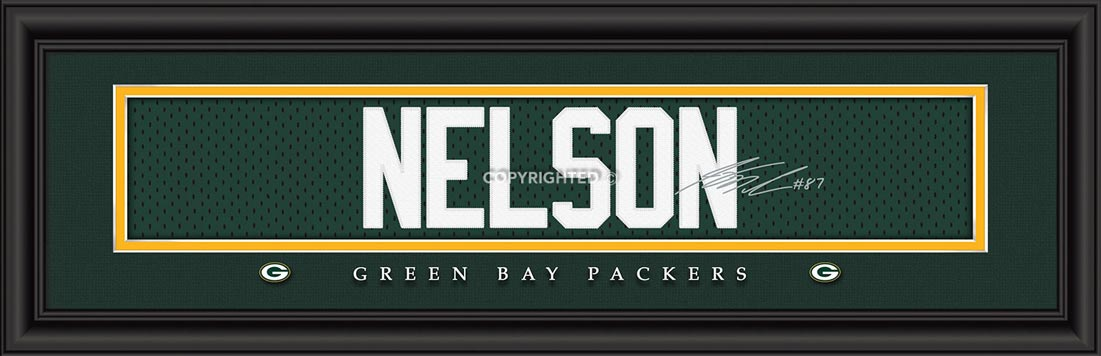 NFL - Green Bay Packers - Signature Jersey Nameplate - Jordy Nelson - Framed Picture