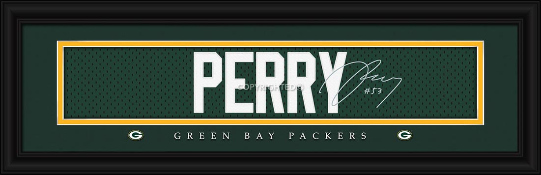 NFL - Green Bay Packers - Signature Jersey Nameplate - Nick Perry - Framed Picture