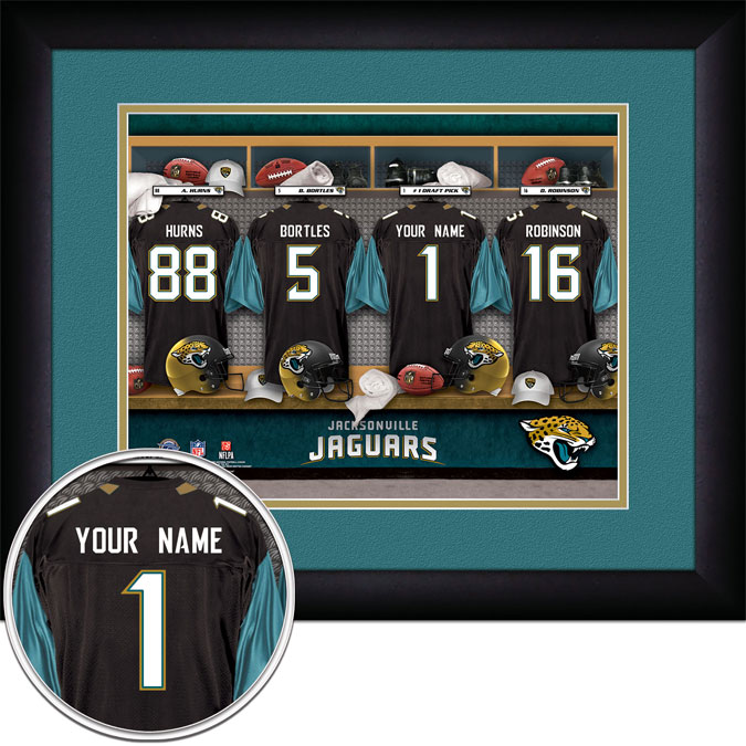NFL - Jacksonville Jaguars - Personalized Locker Room - Framed Picture