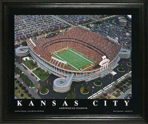 NFL - Kansas City Chiefs - Arrowhead Stadium Aerial - Lg - Framed Picture