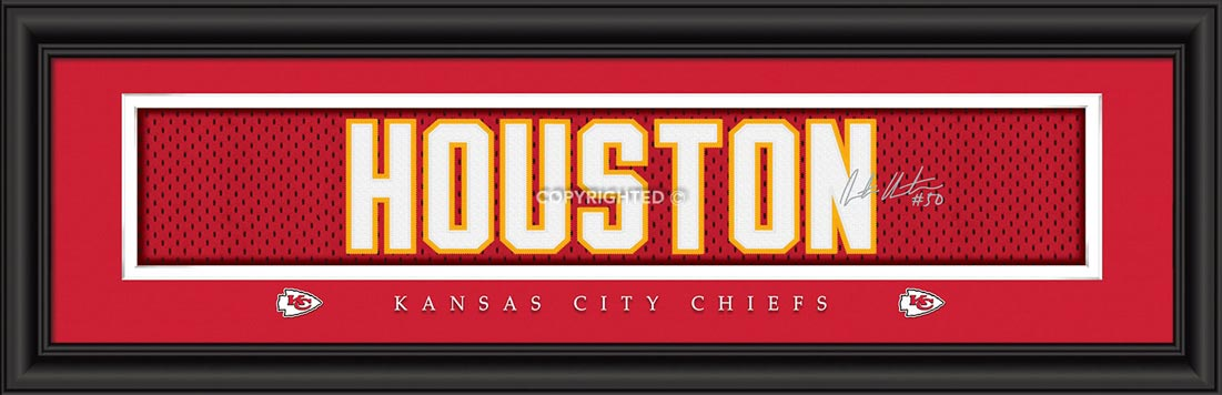 NFL - Kansas City Chiefs - Signature Jersey Nameplate - Justin Houston - Framed Picture