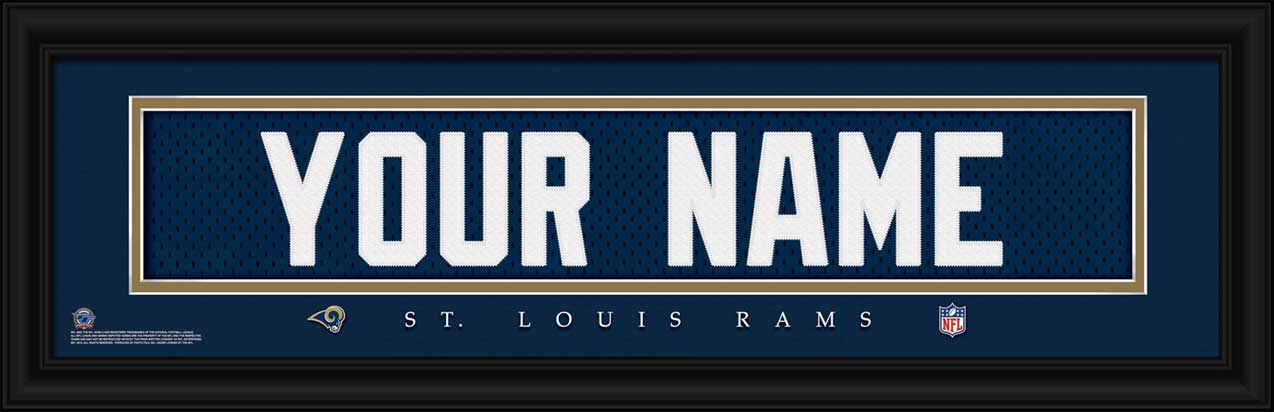 NFL - Los Angeles Rams - Personalized Jersey Nameplate - Framed Picture
