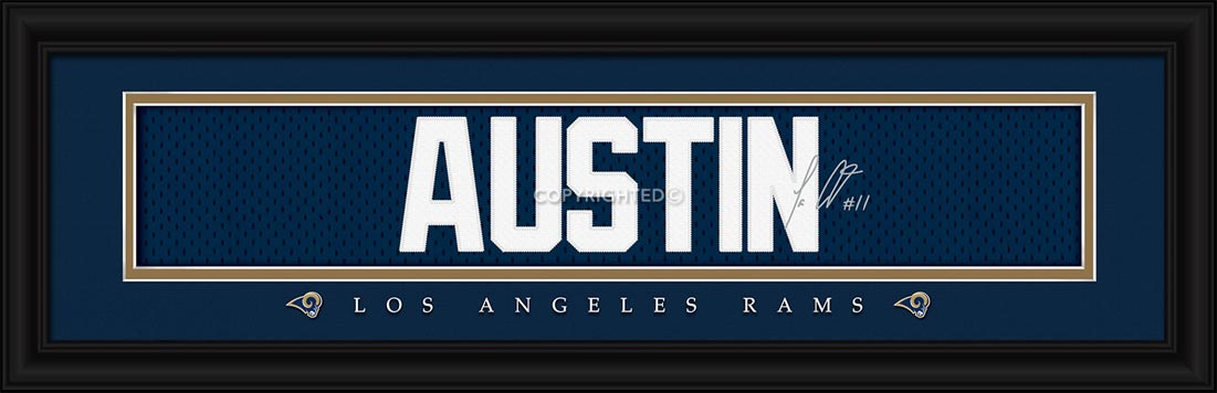 NFL - Los Angeles Rams - Signature Jersey Nameplate - Tavon Austin - Framed Picture