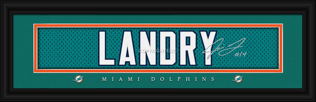 NFL - Miami Dolphins - Signature Jersey Nameplate - Jarvis Landry - Framed Picture