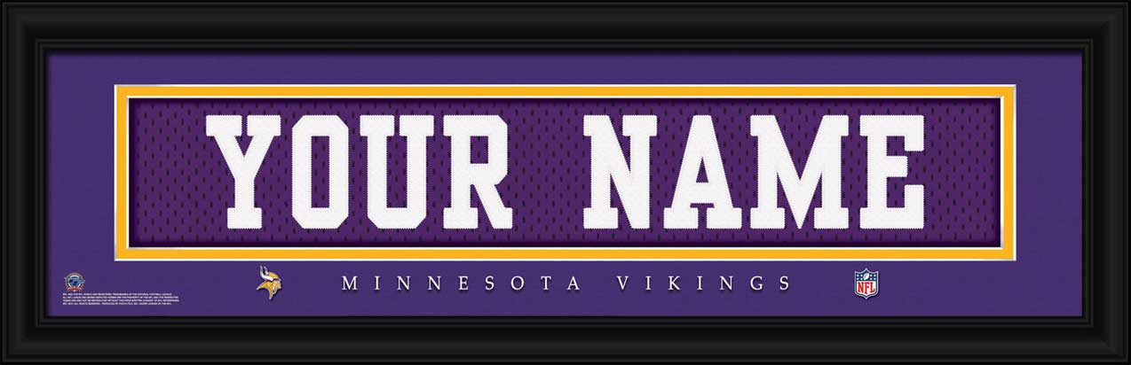 NFL - Minnesota Vikings - Personalized Jersey Nameplate - Framed Picture