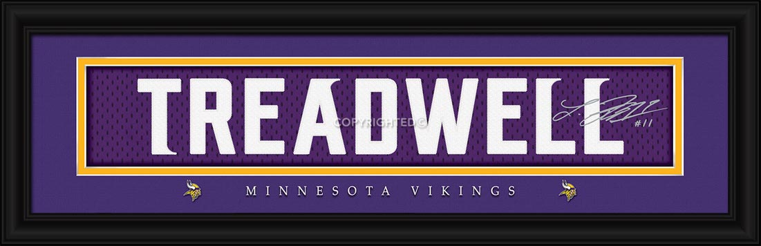 NFL - Minnesota Vikings - Signature Jersey Nameplate - Laquon Treadwell - Framed Picture