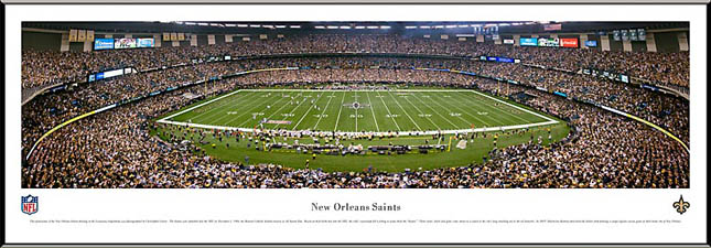 NFL - New Orleans Saints - Louisiana Superdome - Framed Picture