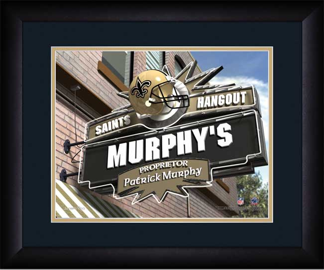 NFL - New Orleans Saints - Personalized Hangout Sign - Framed Picture