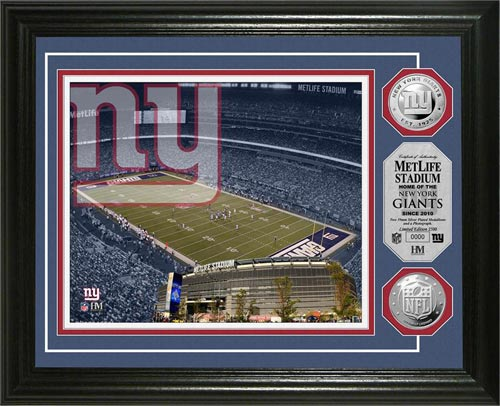 New York Giants Framed Poster Print - MetLife Stadium | Framed ...