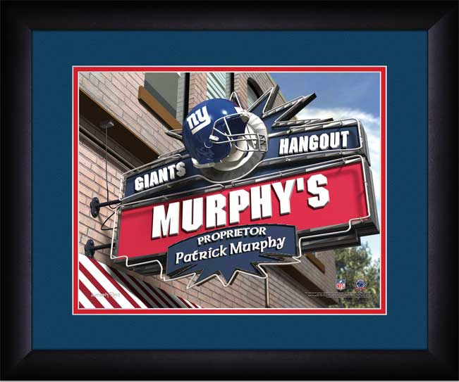 NFL - New York Giants - Personalized Hangout Sign - Framed Picture
