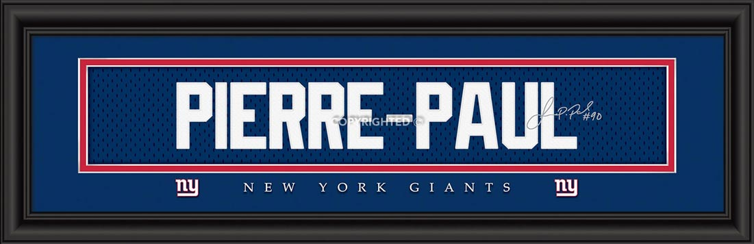 NFL - New York Giants - Signature Jersey Nameplate - Jason Pierre-Paul - Framed Picture